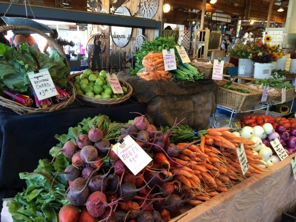 Colorful displays at the Olympia Farmers Market