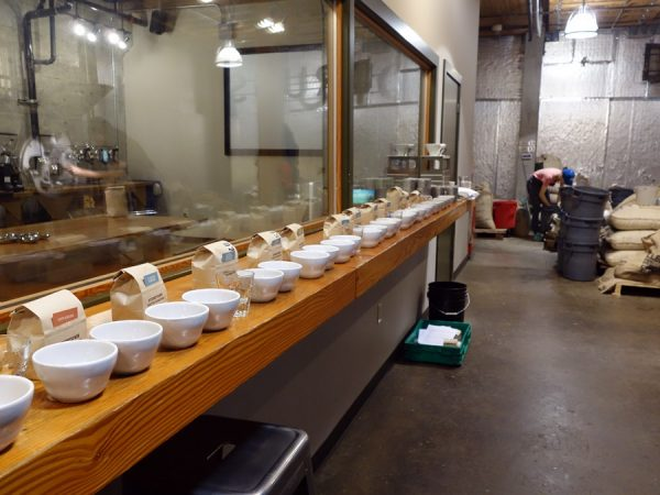 Preparing to do cupping at Stumptown