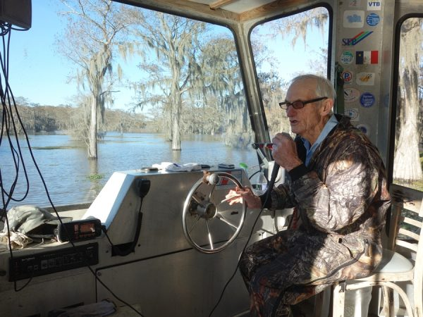 """Pops"" leads a swamp tour"