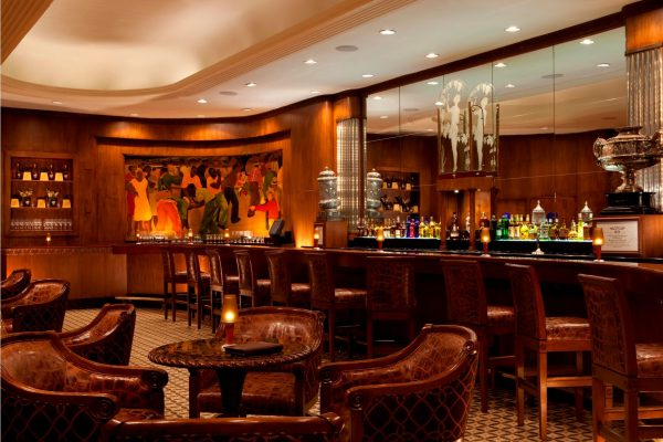 Inside The Sazerac Bar. (Photo courtesy of The Roosevelt New Orleans, A Waldorf Astoria Hotel.)