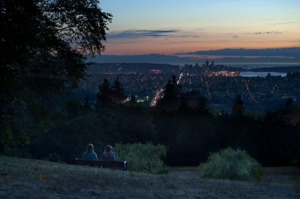 The view from Burnaby Mountain (photo courtesy of Tourism Burnaby)