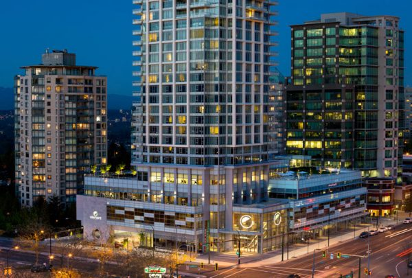 Outside the Element Vancouver Metrotown (photo courtesy of Element Vancouver Metrotown)