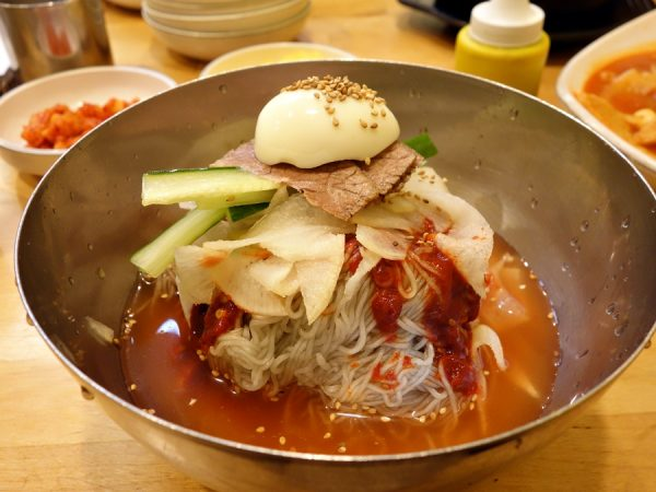 Bibim naengmyeon at Kimbab Cheonguk