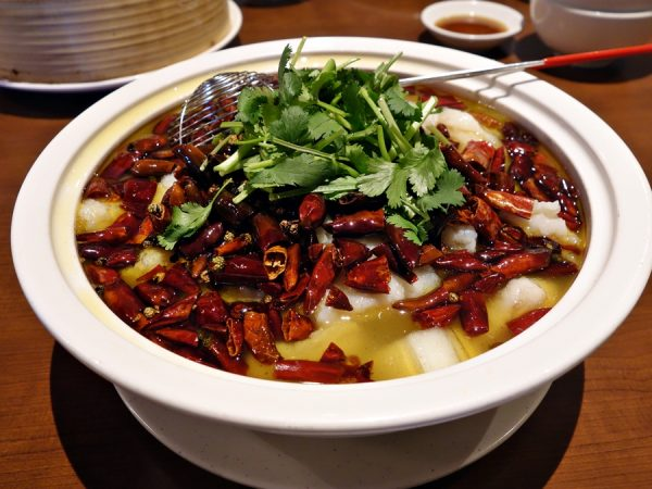 Boiled fish in chili oil at Legend House