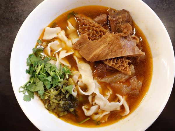 Beef shank, tendon and tripe noodle soup at Pearl House