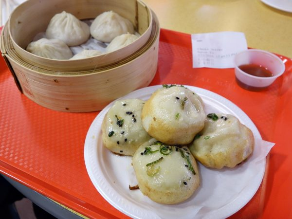 Xiao long bao and sheng jian bao at Shanghai Dimsum House