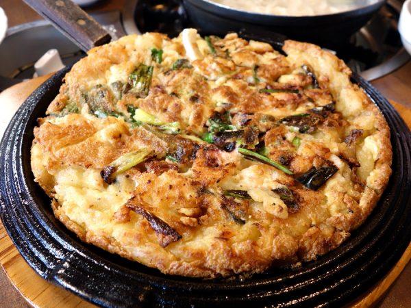 Haemul pajeon at Wonjo BBQ & Noodle Restaurant
