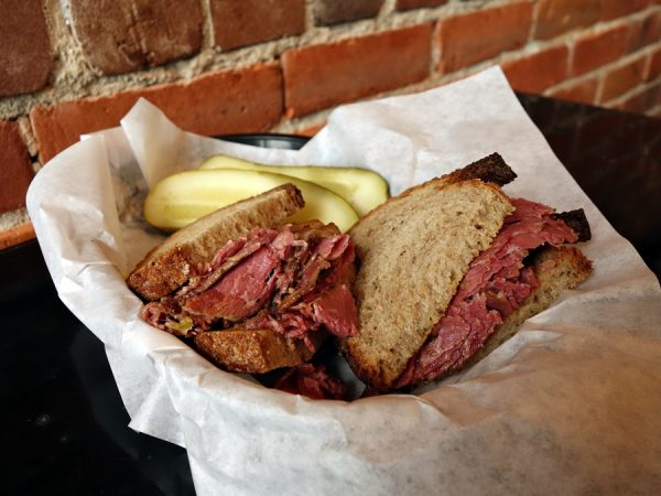 Hot pastrami at Old World Deli