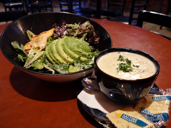 Soup and salad at Poppe's 360