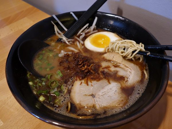 Black garlic ramen at Arashi
