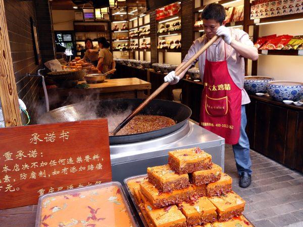 Making hot pot broth