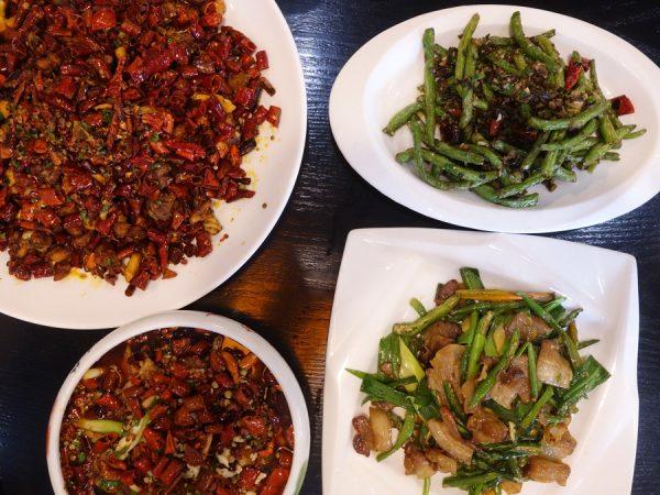 Chongqing quartet, including la zi ji top left