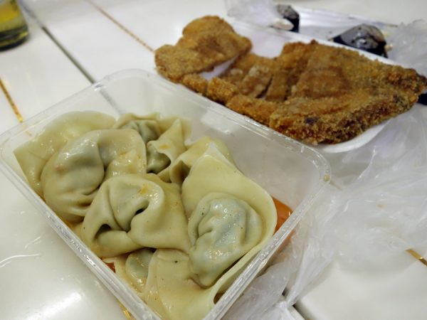 Impressive sesame wontons from Er Guang.