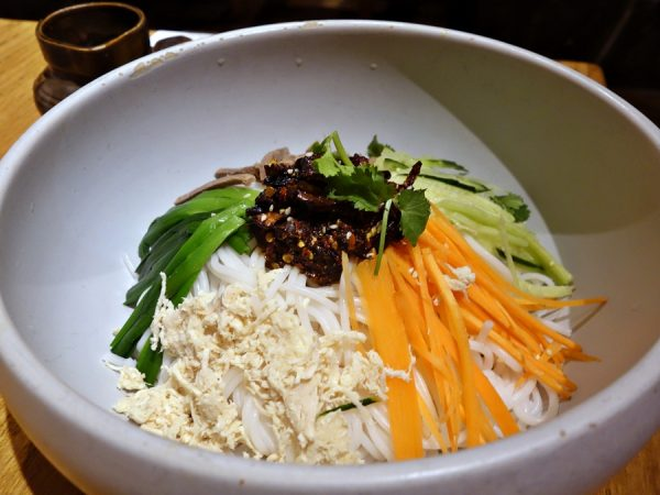 Yun Hai Yao's cold rice noodles with shredded chicken.