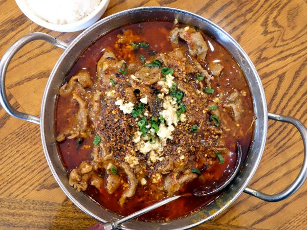 Chengdu Taste's boiled beef in hot sauce