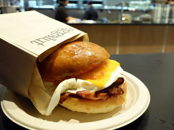 Bacon, egg & cheese sandwich at Eggslut