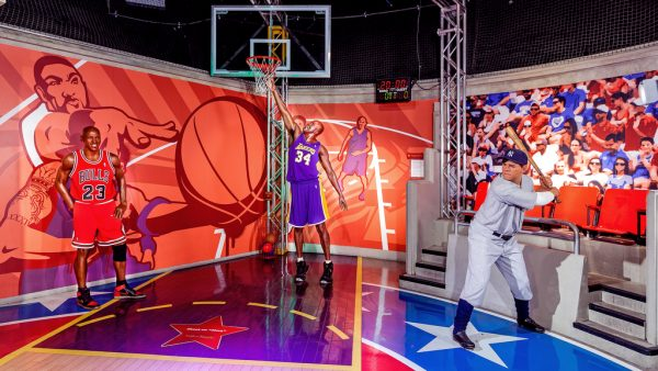 Shaq towers in the sports room (photo courtesy of Madame Tussauds)