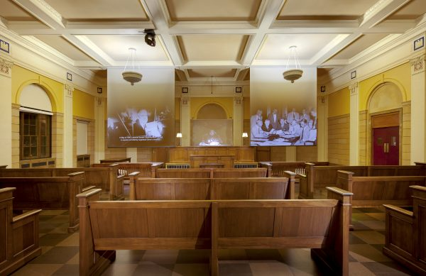 Famed courtroom (photo courtesy of The Mob Museum)