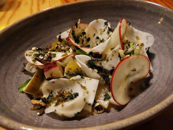 Turnip and apple salad at OLO