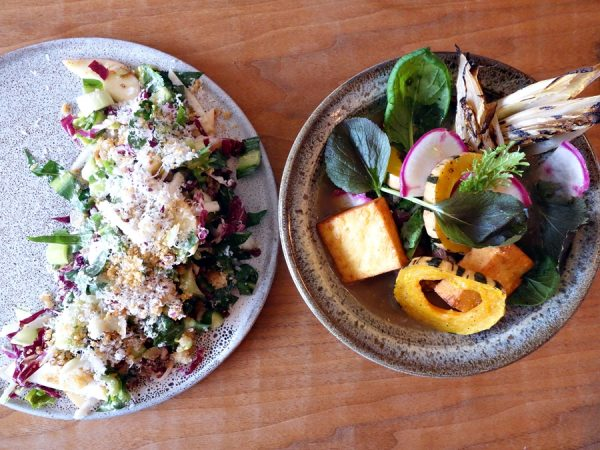 Dandelion and radicchio salad plus braised lamb neck at Part and Parcel