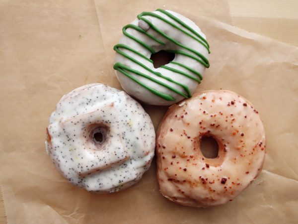 A trio of donuts at Blue Star