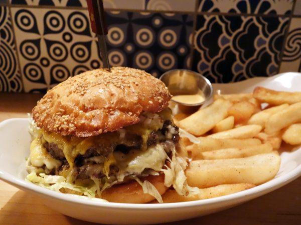 SuperBite's burger