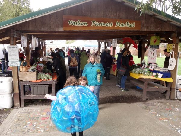 At the Vashon Farmers Market.