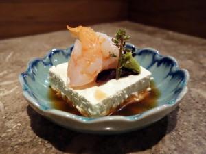 Kamonegi's foie gras tofu
